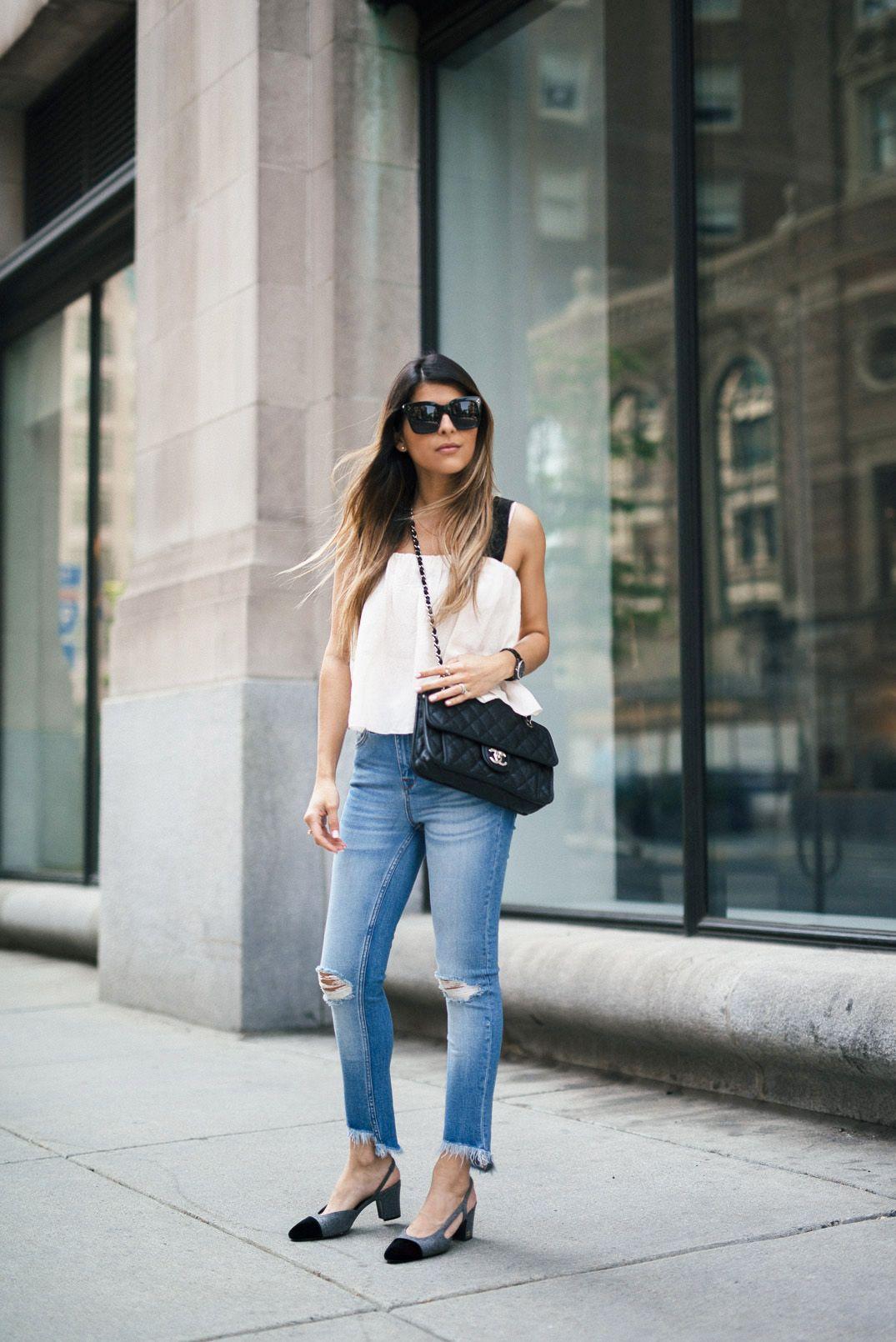 แมทช์ Chanel Slingback Shoes